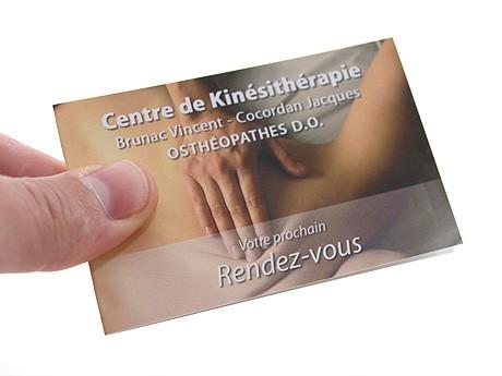 Bien connu Carte de rendez-vous pour Kinésithérapeute MU68