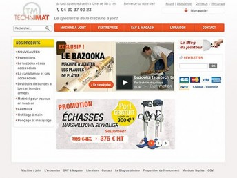 Site e-commerce Technimat