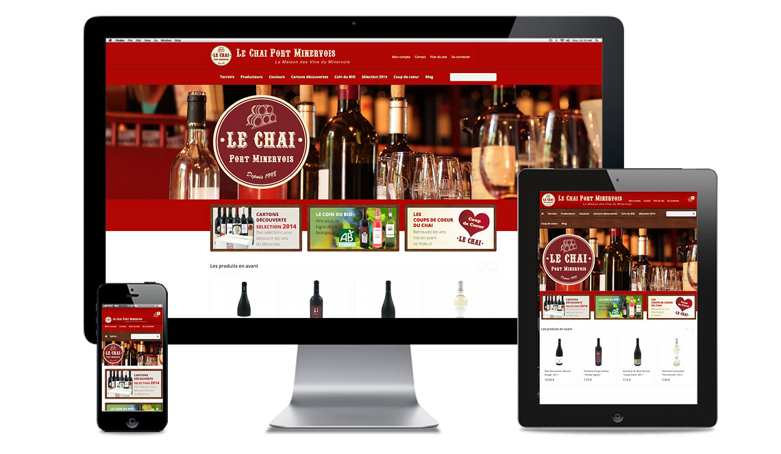 site e-commerce du chai