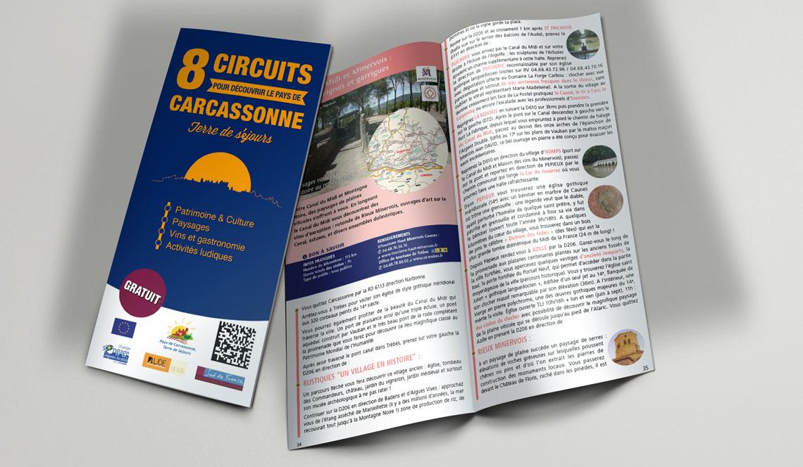 Guide des 8 circuits en Pays de Carcassonne
