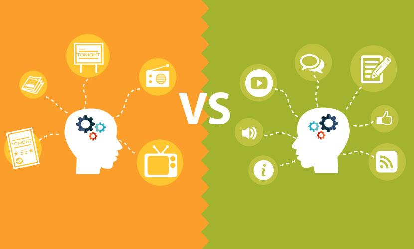 Publicités traditionnelles VS Marketing de contenu