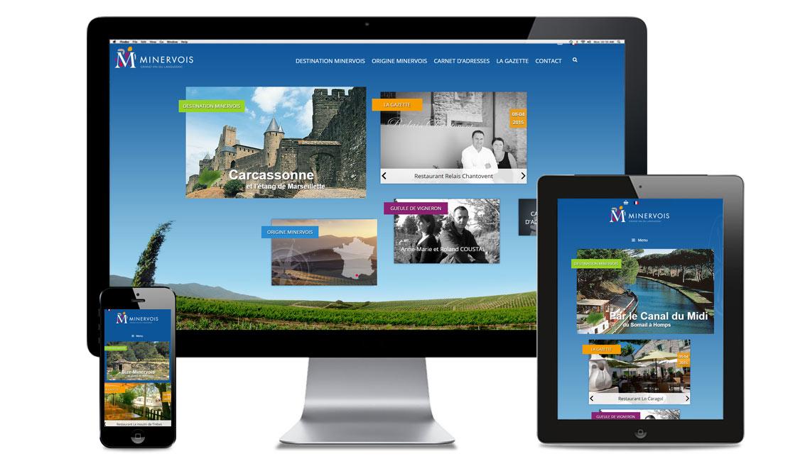 site internet AOC le Minervois