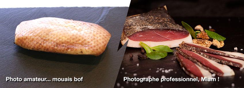 comparaison entre photo amateur et pro