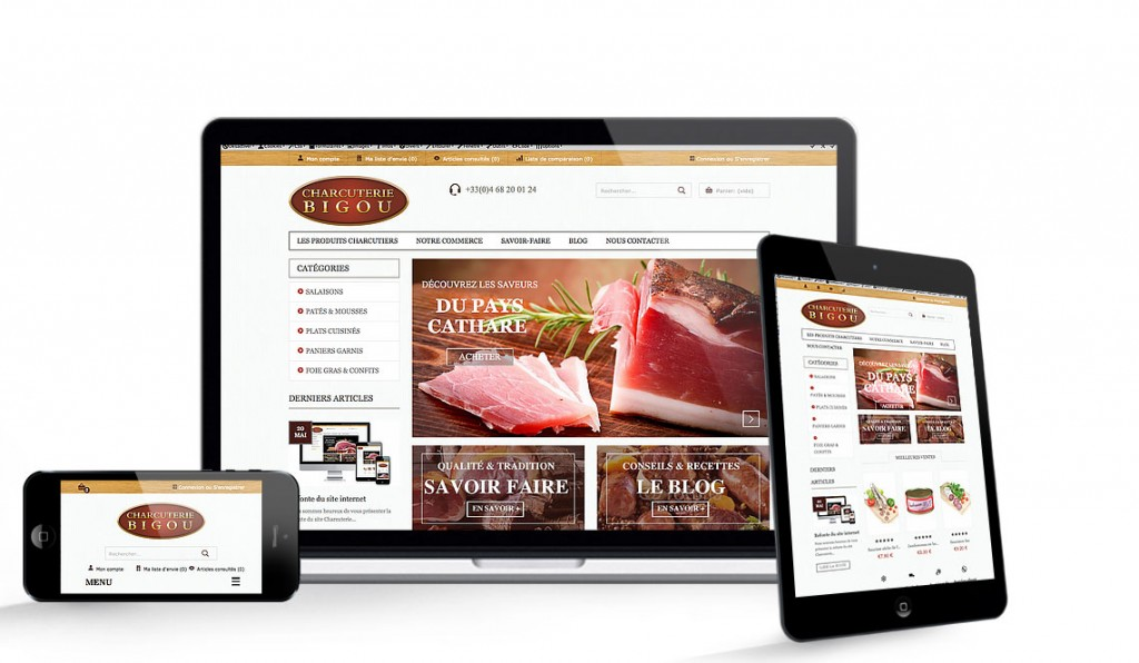 site e-commerce charcuterie bigou