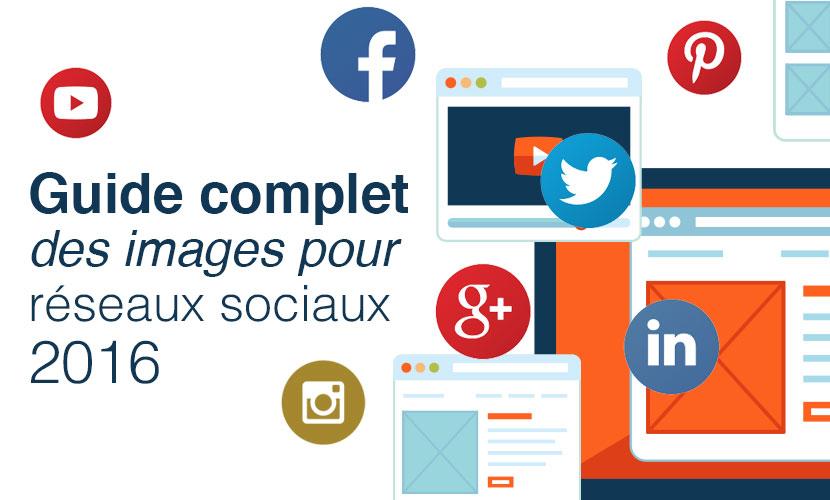 Guide complet des images pour réseaux sociaux 2016