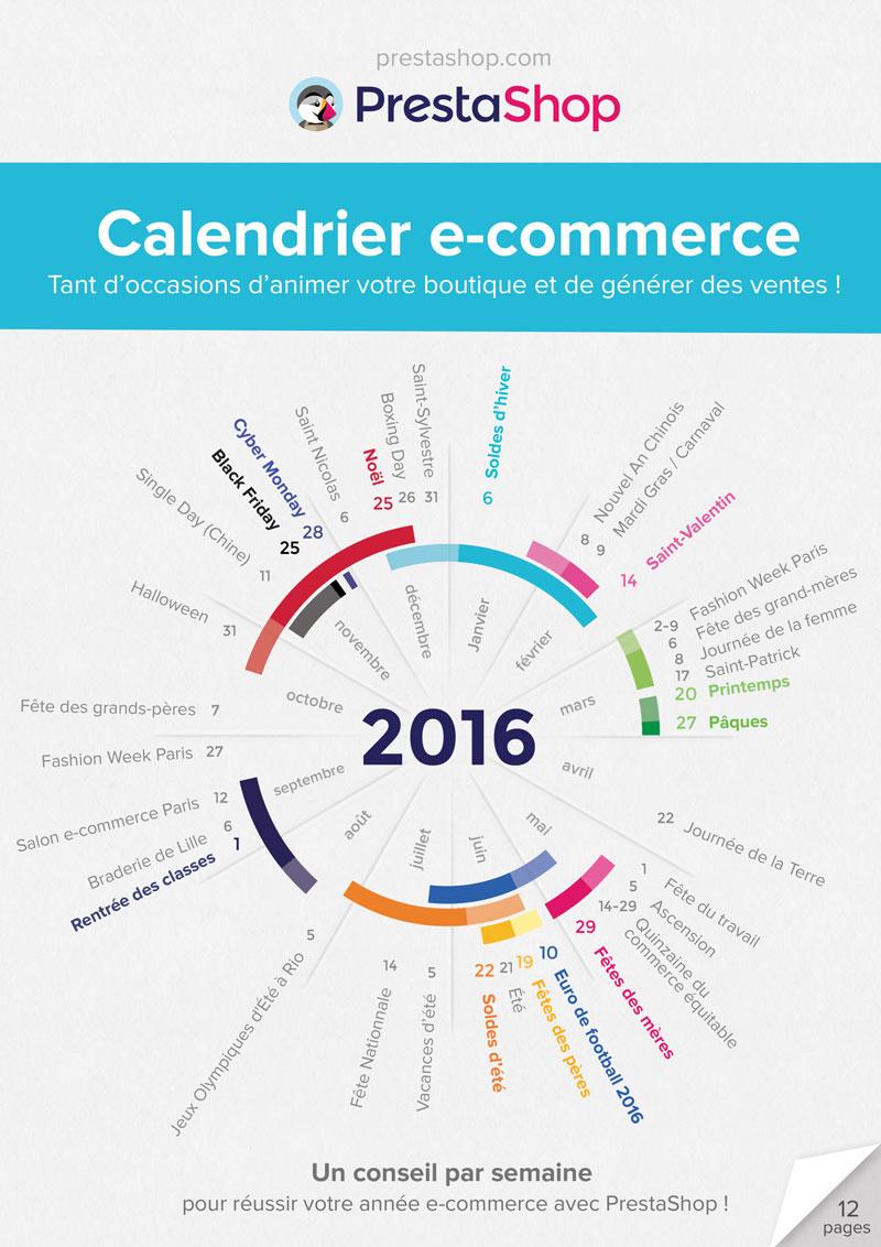 Calendrier des animations E-commerce 2016