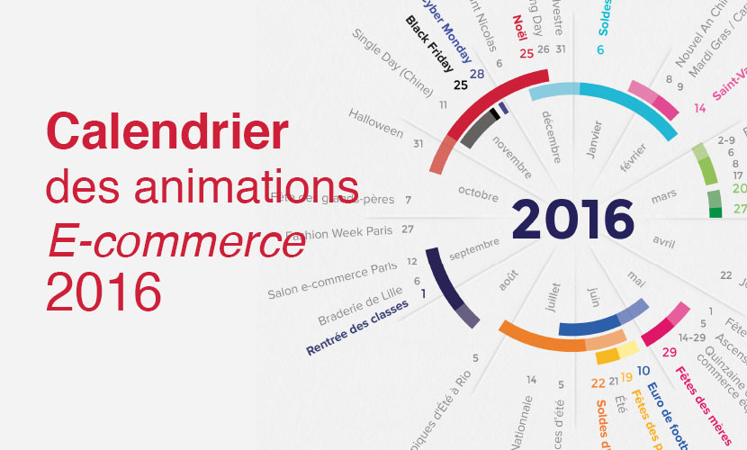 Calendrier des animations E-commerce 2016