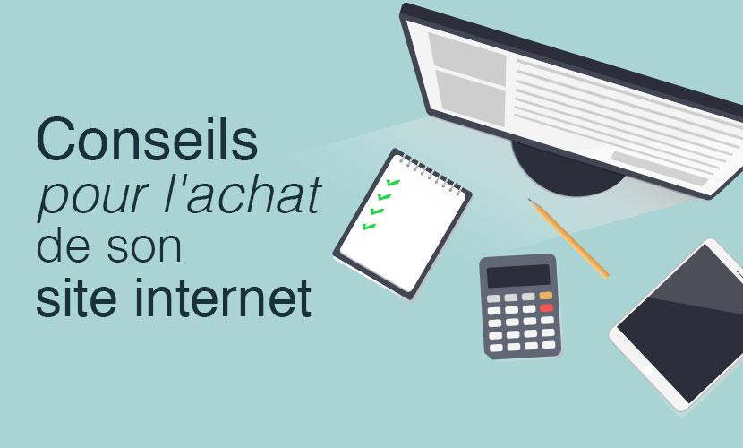 Conseils pour l'achat d'un site internet