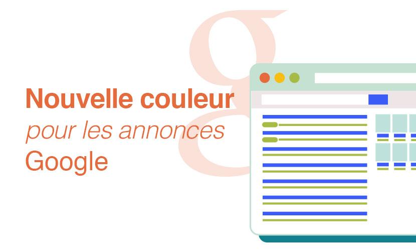 Nouvelle couleur pour les annonces Google