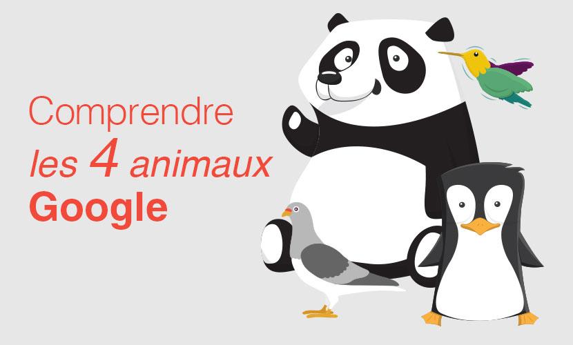 Comprendre les 4 animaux Google