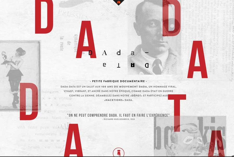 Uns mise en page originale : http://dada-data.net/fr/