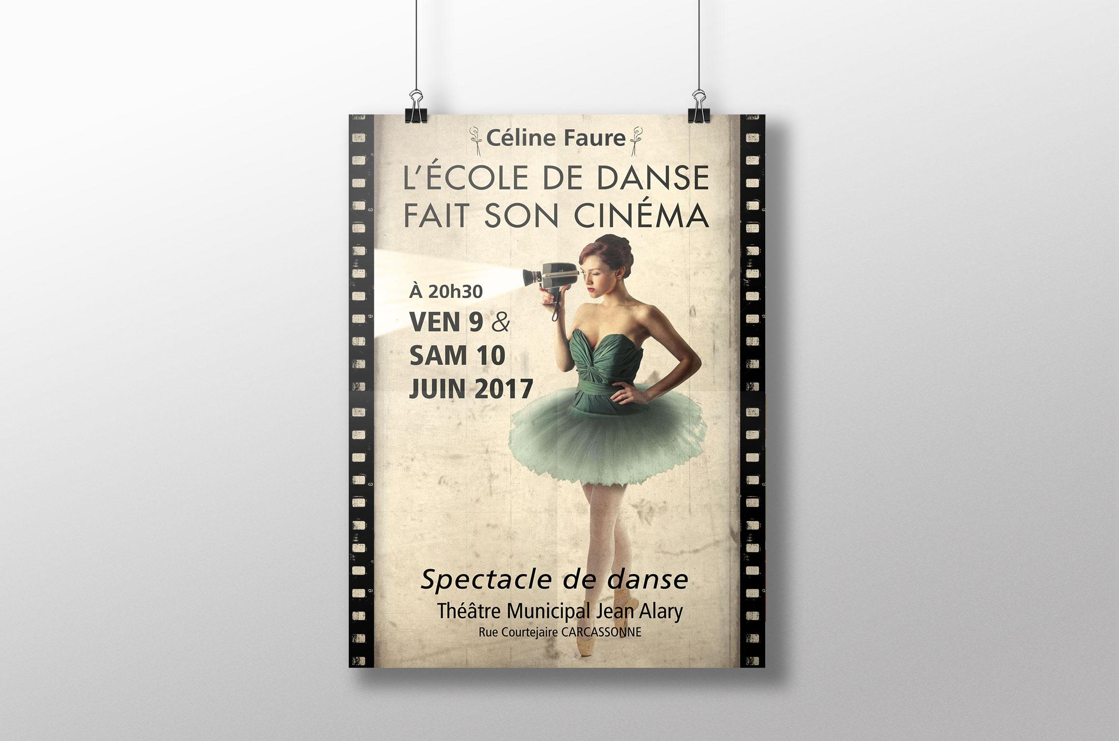 affiche-celine-faure-danse carcassonne