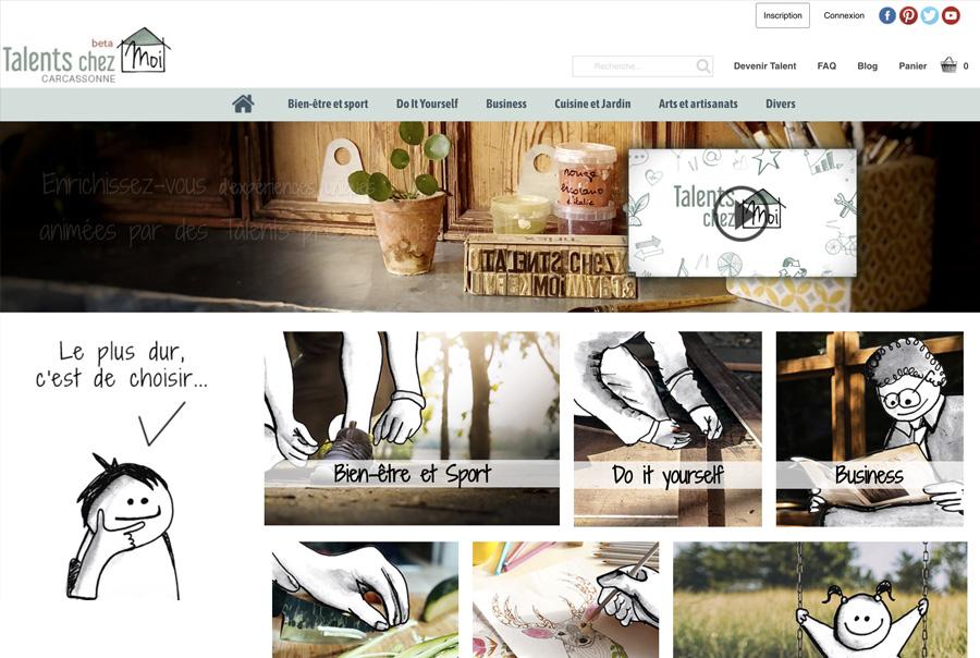 illustrations sur le site Talents chez moi
